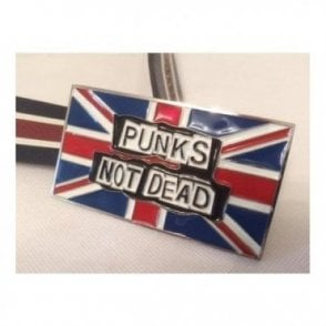 "Union Jack ""Punk's not Dead"" Belt Buckle"