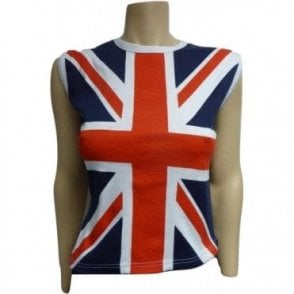 Union Jack Ladies Cut sleeve - sleeveless T shirt
