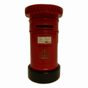Union Jack Wear Post Box Money Box Die Cast