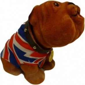 Nodding Union Jack British Bulldog