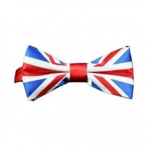 Union Jack Satin Bow Tie