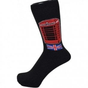 British Telephone Box Men's Socks