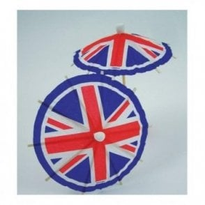 Union Jack Party Pick Umbrella Flags