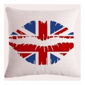 Union Jack Lips Cushion Covers