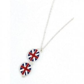 Union Jack Sunglasses glasses Necklace with gift box
