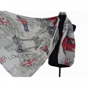 Union Jack GB Map Pashmina Shawl/Scarve