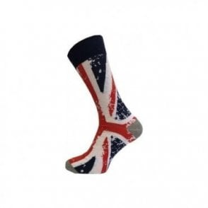 Men's Union Jack Abstract Design Socks