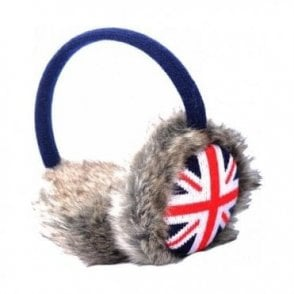 Union Jack Furry Ear Muffs
