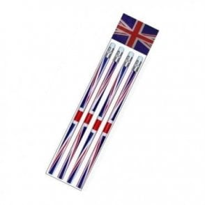 Pack of 4 Union Jack pencils