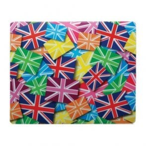 Union Jack Mouse Mat - Multi Union Jacks in Multi Colours