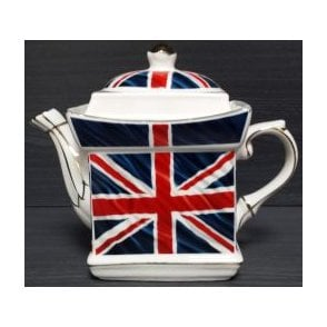 Union Jack Square Tea Pot