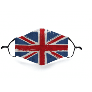 Union Jack Wear Union Jack Jack Cloth Face Mask. Re-Usable & Adjustable