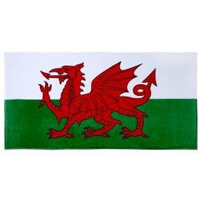 Union Jack Wear Wales St David Flag 100% Cotton Beach Towel
