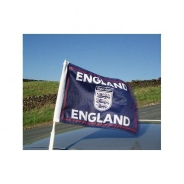 3 Lions Car flag. England Football Car Flag