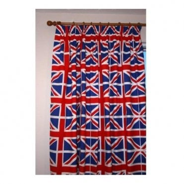 "Union Jack Curtains - 66""x 72"" inch drop"