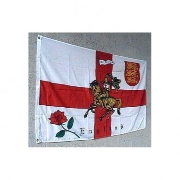 English Rose lion flag 5ft x 3ft