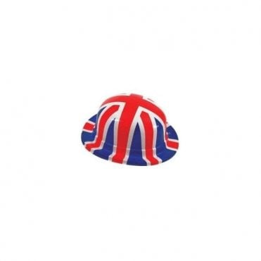 Pack of 6 Union Jack Plastic Bowler Hats