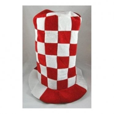 Red and White Checkered Topper hat