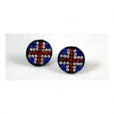 Union Jack Stud Earrings