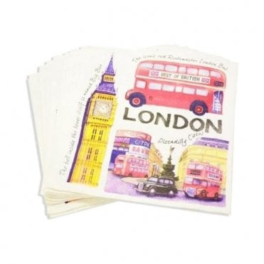 Iconic London Napkins - British Themed Party Napkins