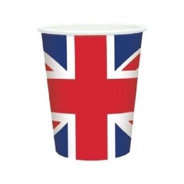 Union Jack Plastic Cups x 20 VE Day Street Party?