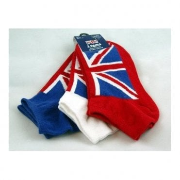Men's Union Jack Training Socks 3 Pack