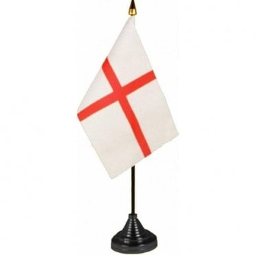 St George Cross Table Flag - pack of 12