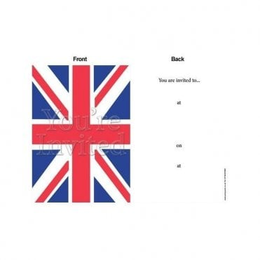 Union Jack Party Invites Invitations with envelopes - 8