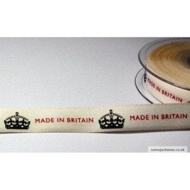 Made In Britain ribbon 15mm wide