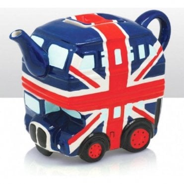 Union Jack Bus Tea Pot