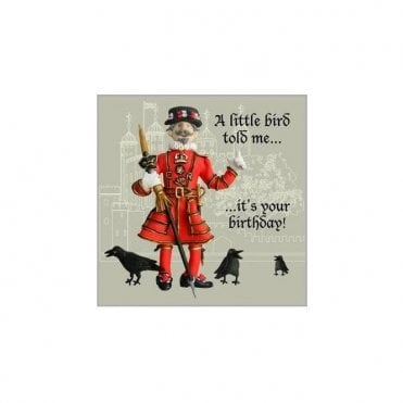 Beefeater Birthday Card