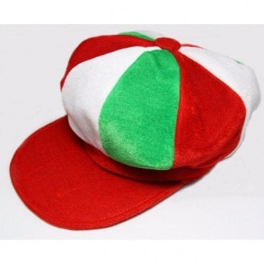 Red, White & Green Baker Boy style hat