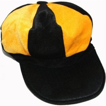 Yellow and Black Baker Boy style hat