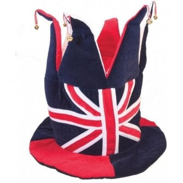Union Jack Topper Hat with Bells