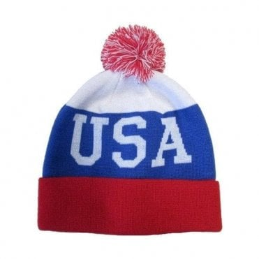 USA Knitted Beanie Hat