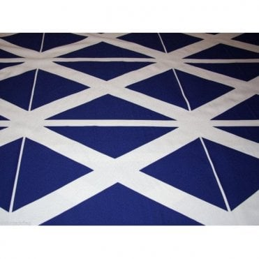 Scotland Flag Saltire Poly-Cotton Twill Fabric