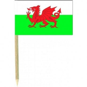 Welsh Flag Party picks Pack of 50