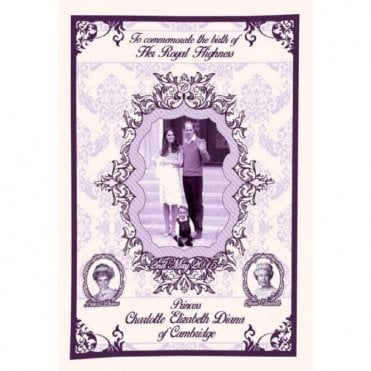 Princess Charlotte Elizabeth Diana Royal Baby Tea Towel