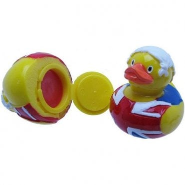 Union Jack Rubber Duck Lip Balm