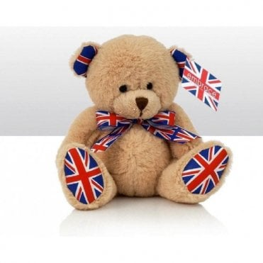 "Union Jack Teddy Bear "" Jack Royal"" 6"" tall"