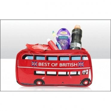 Traditional London Red Bus Wash Bag toiletries bag