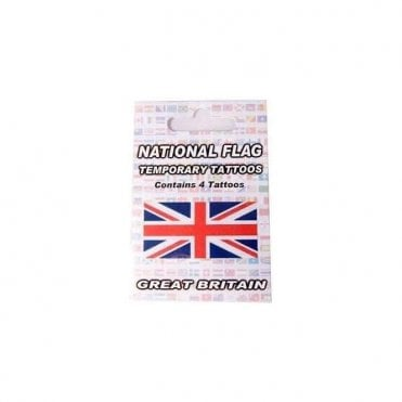 Pack of 4 Union Jack Temporay Tattoos