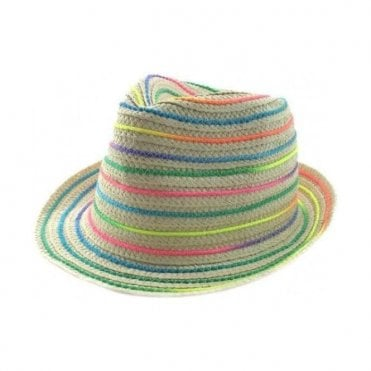 Rainbow Trilby Hat