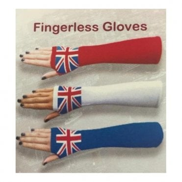 Ladies Union Jack Fingerless Gloves