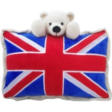 Union Jack Bear Cushion Teddy bear