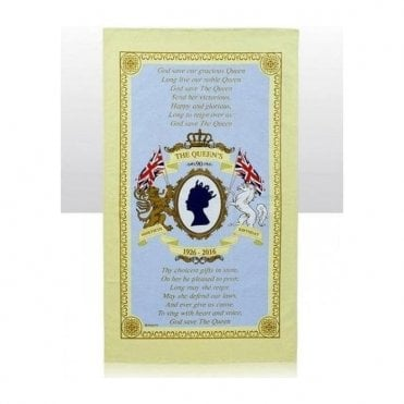 HRH The Queens 90th Birthday Tea Towel
