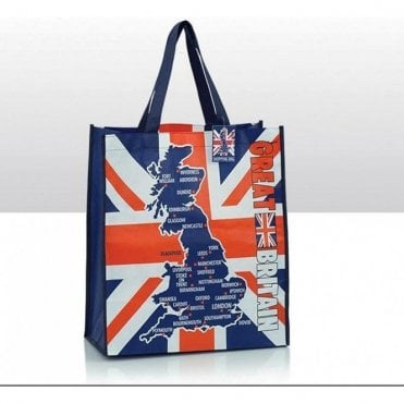 Union Jack Great Britain Shopping Bag