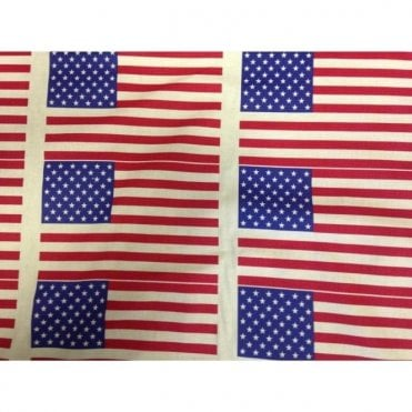 USA Stars and Stripes Fabric