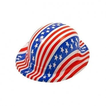 Pack of 6 American Flag Bowler Hats