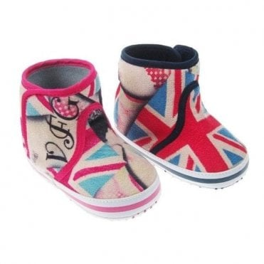 Union Jack Baby Fleece Boots